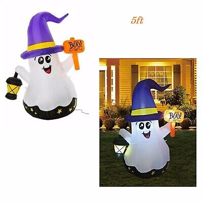 Halloween Inflatable Blow Up Light Lantern Ghost Outdoor Yard Decoration 5ft