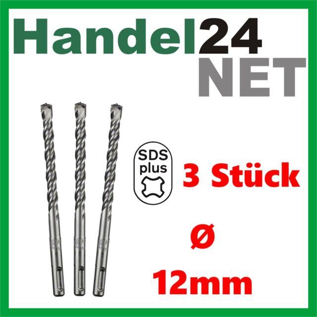 3 x BOSCH SDS plus-5  Bohrer 12mm 150/215mm Stein + Beton 2608585630