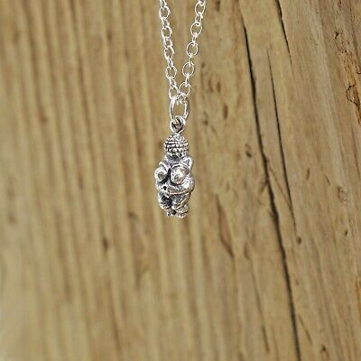 Venus The Goddess (Sterling Silver The Venus of Willendorf Fertility Goddess Charm Necklace Pagan)