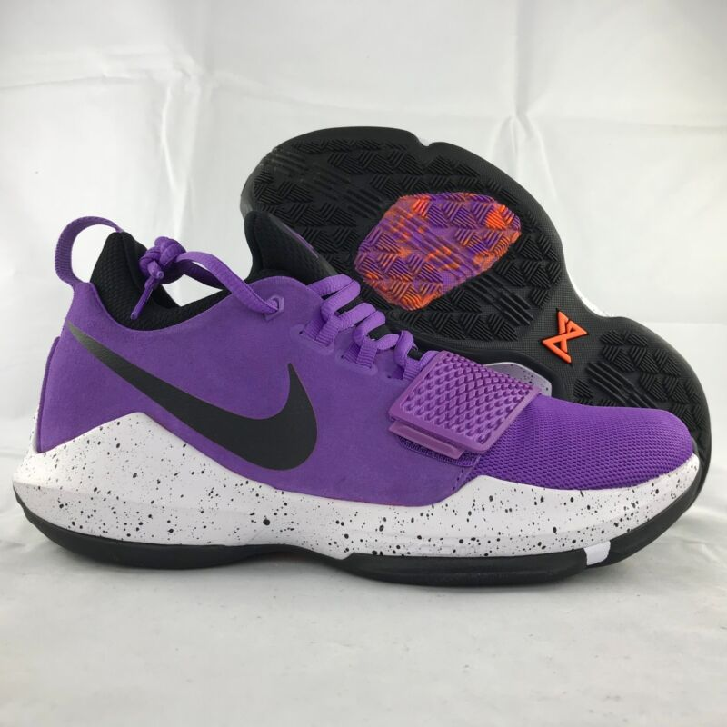 outlet store 70eff 4eb16 Nike PG 1 Bright Violet Purple Black White Paul George 878627-500 Men s 17