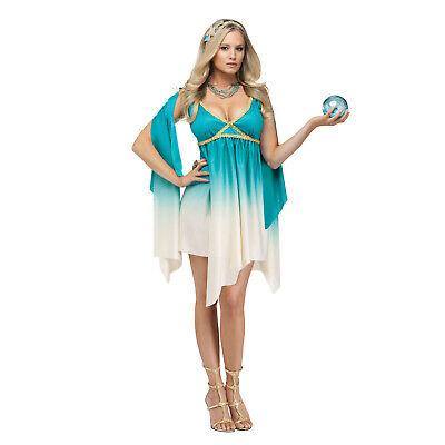 Adult Women's Sexy Greek Sea Mythical Goddess Calypso Elegant Costume Dress