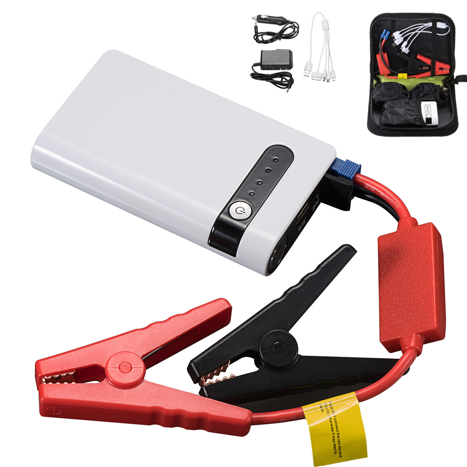 Portable Mini Slim 20000mAh Car Jump Starter Engine Battery