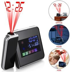Digital Projection Alarm Clock Thermometer Weather Snooze LED Backlight
