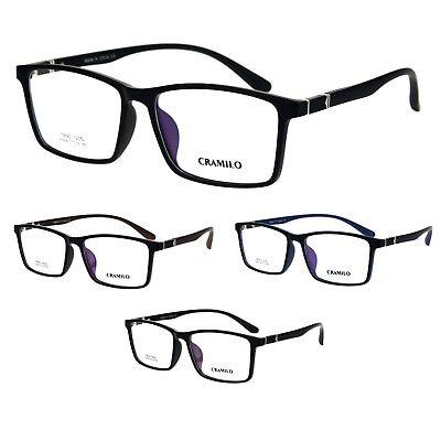Mens Extra Wide 57mm TR90 Plastic Rectangular Optical Eyeglasses (Extra Wide Eyeglass Frames)