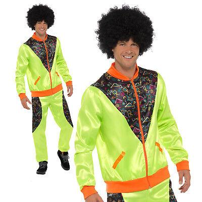 80s Shell Suit Costume Scouser Tracksuit Adult Mens Retro Fancy Dress Outfit](Men 80s Costumes)