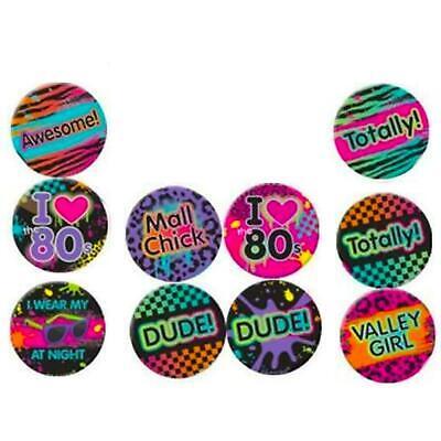 10 Total 1980er Retro Abzeichen 80er Jahre Disco Kostüm Party - Total 80er Jahre Kostüm