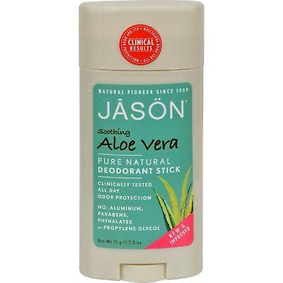 Aloe Vera Gel Deodorant Stick - Jason Natural Cosmetics - Deodorant Aloe Vera Gel, 2.5 oz sticks
