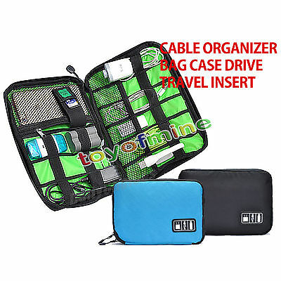 Electronic Accessories Cable USB Drive Organizer Bag Portable Travel Case US NEW