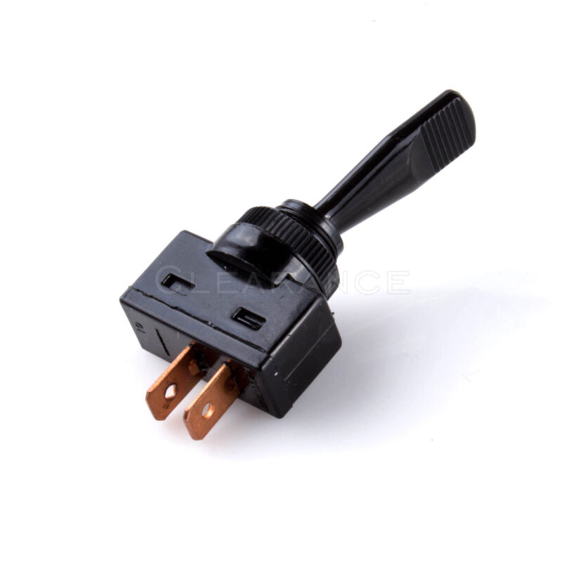 "Toggle Switch ON/OFF Screw Amount 1/2"" Hole 12V Car Auto Boat Black W/ NO Light"