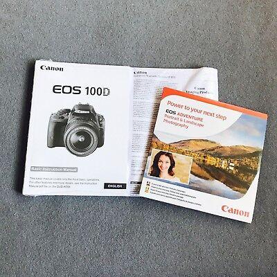 Canon EOS 100D Camera Original Instruction Manual Kit