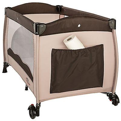 Reisebett Kinderreisebett Kinder Baby Babybett Kinderbett mit Einlage coffee