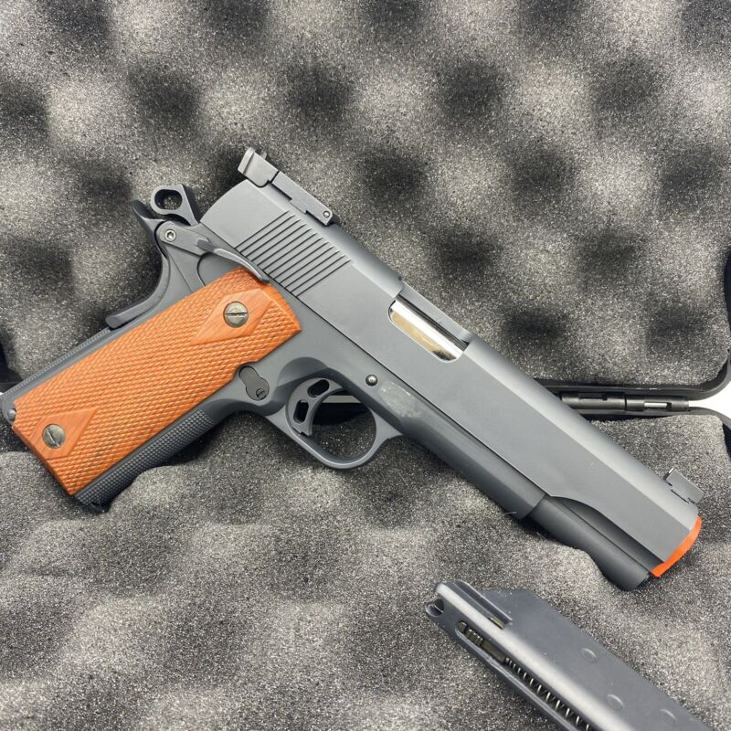 Marushin KSC Vintage All Metal 1911 Airsoft Pistol Green Gas With Extra Magazine