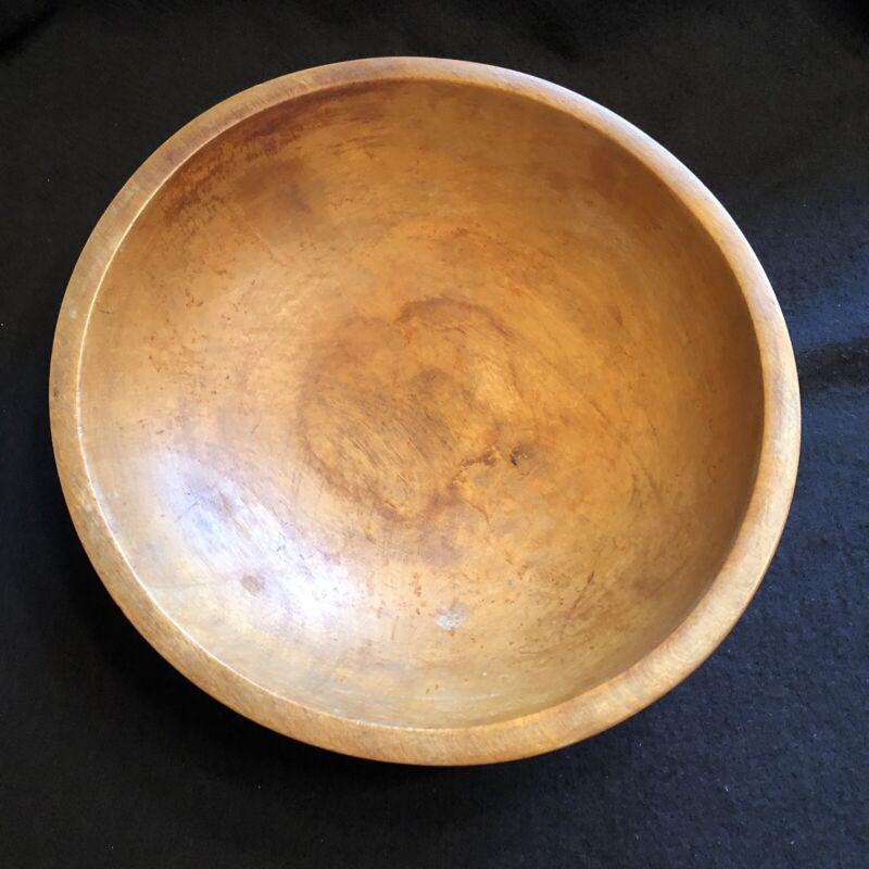 """Vintage Munising 3 Leg Footed Primitive Wooden Bowl @ 11"""""""