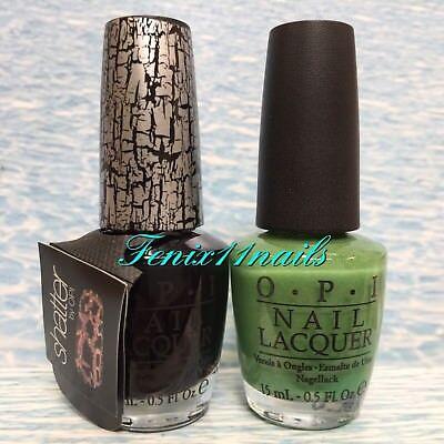 Halloween Nail Polish Set (OPI BLACK SHATTER E53 + ZOM-BODY TO LOVE Halloween Glow In Dark Nail Polish)
