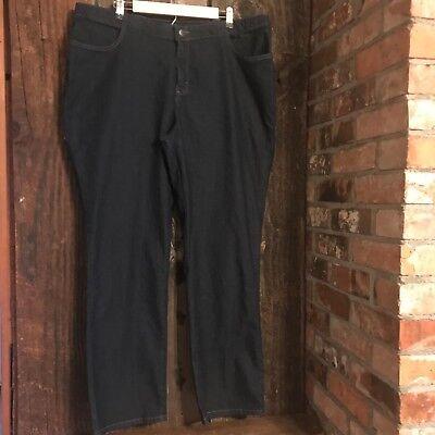 (Riders By Lee Women's Size 20W/M Jeans Straight Leg Comfort Waist Dark Wash )