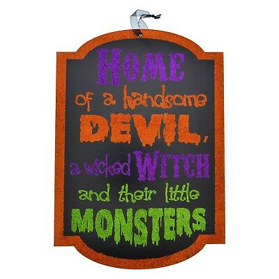 Halloween Wooden Sign, Wall or Door Decor Centerpiece DIY Wreath Witch - Wooden Halloween Signs