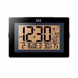 HITO Extra Large Atomic Radio Controlled Desk Wall Clock