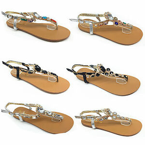 Girls-and-LADIES-TOE-BOW-DIAMANTE-SUMMER-FLAT-FLIP-FLOP-FLOWER-SANDALS-SIZE