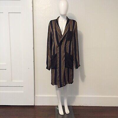 UMA WANG 2016 robe coat jacket striped satin floral Chinese designer artisanal