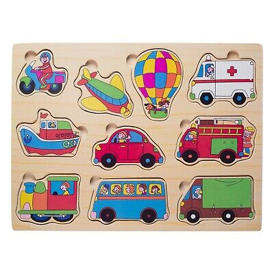 Eliiti Wooden Peg Puzzles for Toddlers Kids Boys 2 to 4 Year
