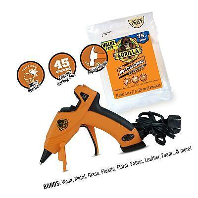 Gorilla Dual Temp Mini Hot Glue Gun Kit with 75 Hot Glue Sticks