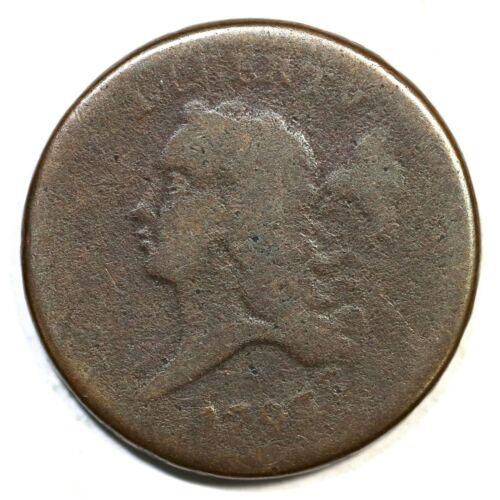 1793 C-1 R-3 Liberty Cap Half Cent Coin 1/2c