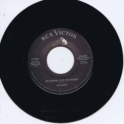 TED HARRIS - JUST THOUGHT I'D SET YOU STRAIGHT (Repro) ROCKABILLY JIVER (listen)