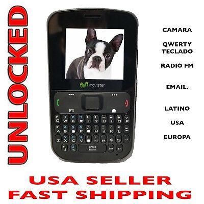 UNLOCKED Cell phone GSM Unlocked PCD Qwerty Mp3 Camera 2G 850/1900 Desbloqueado