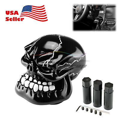 - Black Universal Manual Wicked Skull Head Gear Stick Car Shift Knob Shifter
