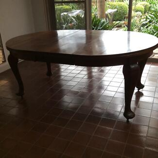 Solid Blackwood extension dining table 1920's