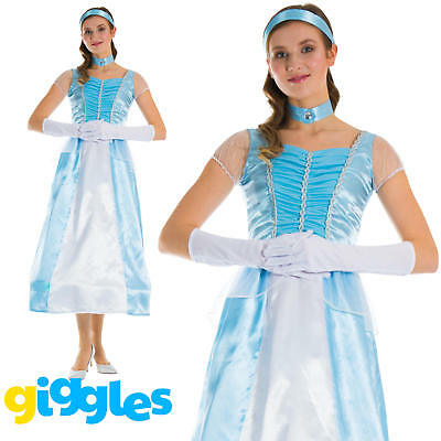 Adult Cinderella Costume Womens Fairytale World Book Day Week Fancy Dress Outfit (Adult Cinderella Outfit)