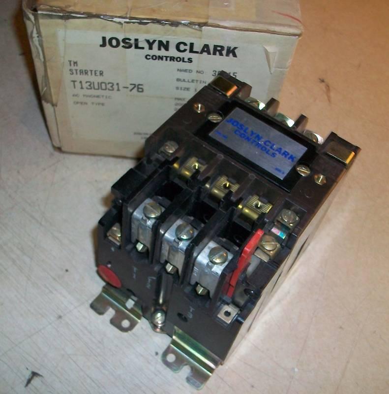 Joslyn Clark Motor Starter T13U030  3hp