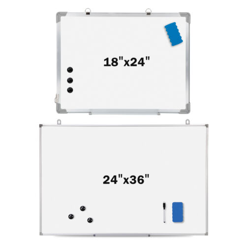 18/36 x 24 inch Magnetic Whiteboard Dry Erase White Board Wall Hanging Board Business & Industrial
