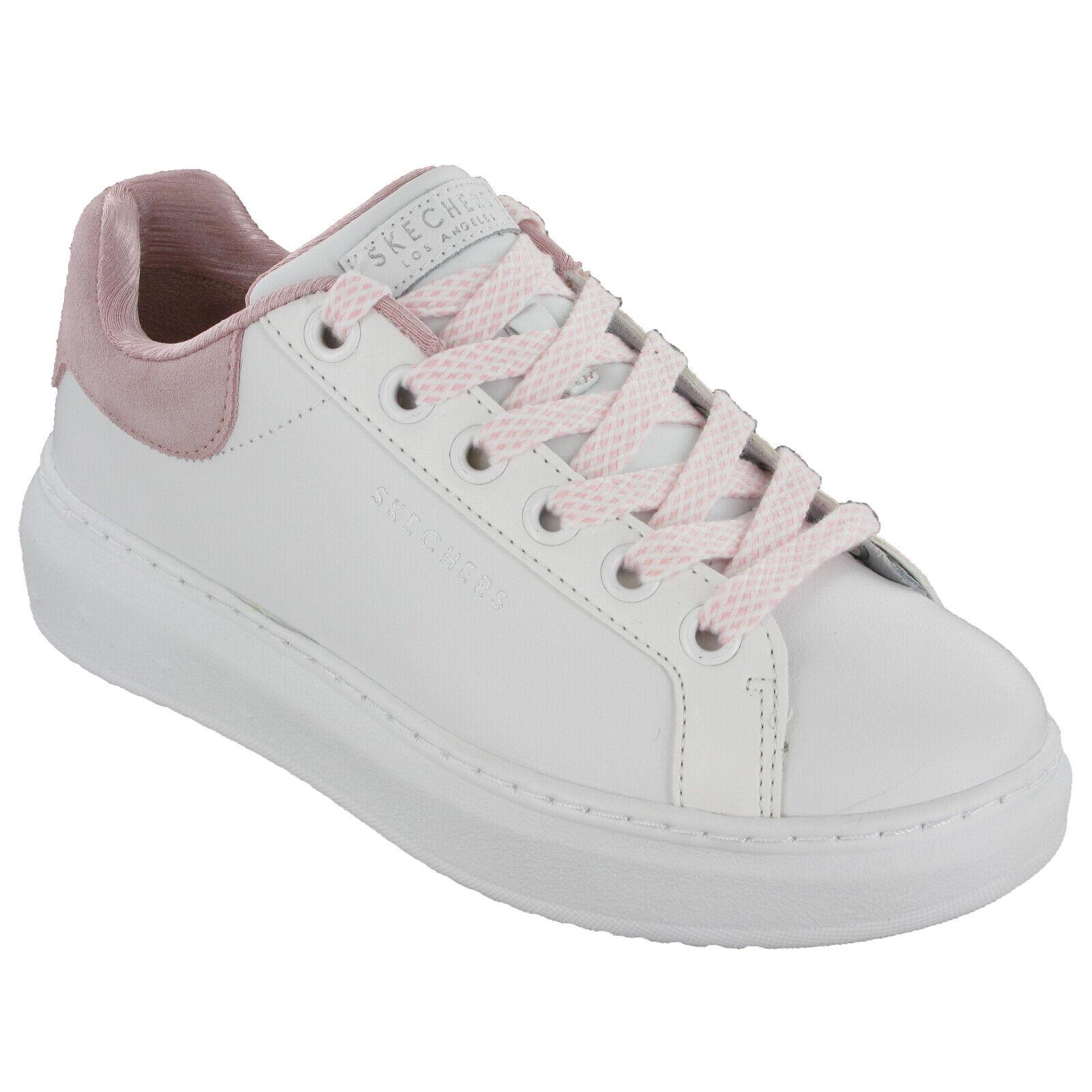 Détails sur Skechers High Street à Pois Ligne Baskets Femmes Compensé Chaussures Mode