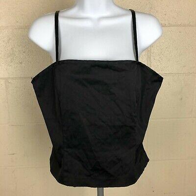 H&M Women's Spaghetti Strap Top Size 12 Black DX3