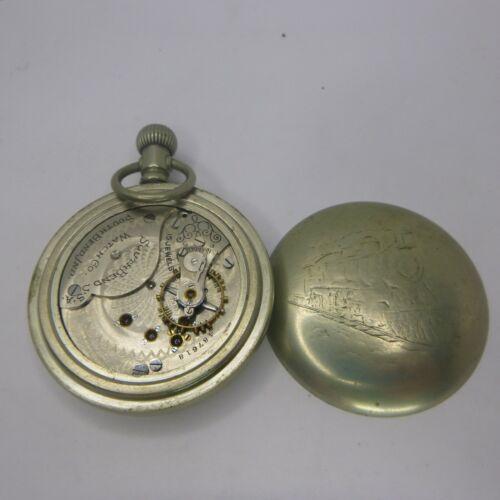 South Bend Pocket Watch In Silverode Train Case 15 jewel