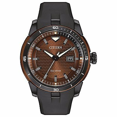 Citizen Eco-Drive Men's AW1476-18X Ecosphere Brown Dial Black Poly 47mm Watch