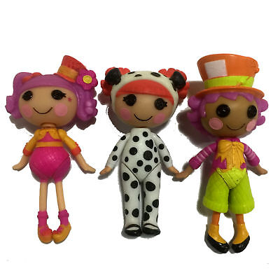 Lot 3pcs MINI Lalaloopsy Character Dolls Playset 3in. Action Figure Girl Toy