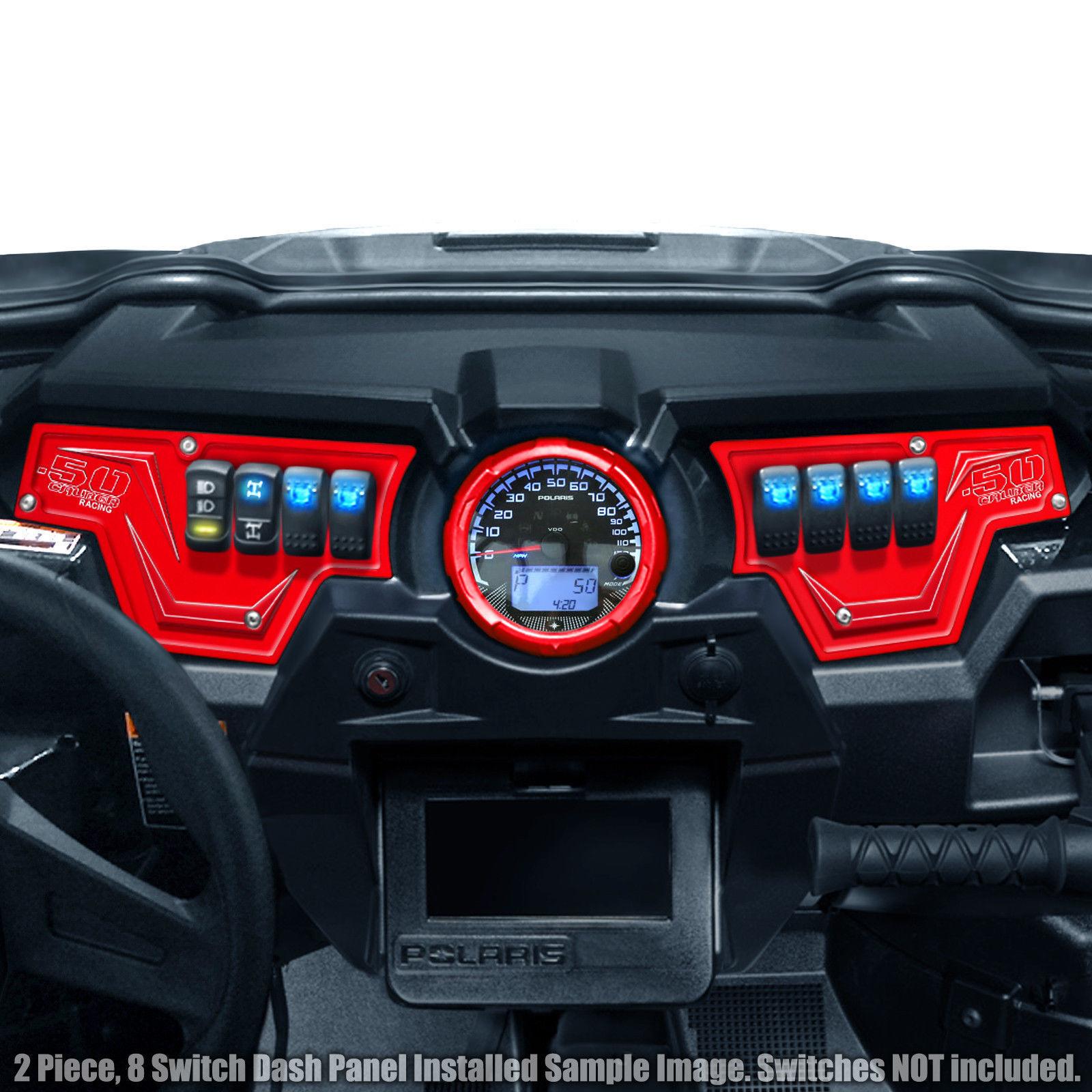Polaris RZR Dash Switch Plate Fits All XP 1K XP 1000 Red