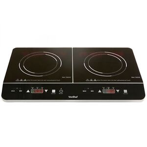 VonShef Digital 2800W Twin Double Induction Hob Electric Cooking Hob Portable