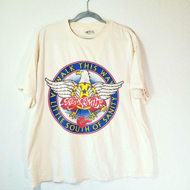 Vtg Rare Aerosmith Walk This Way A Little South Of Sanity Shirt Late 90s Men XL