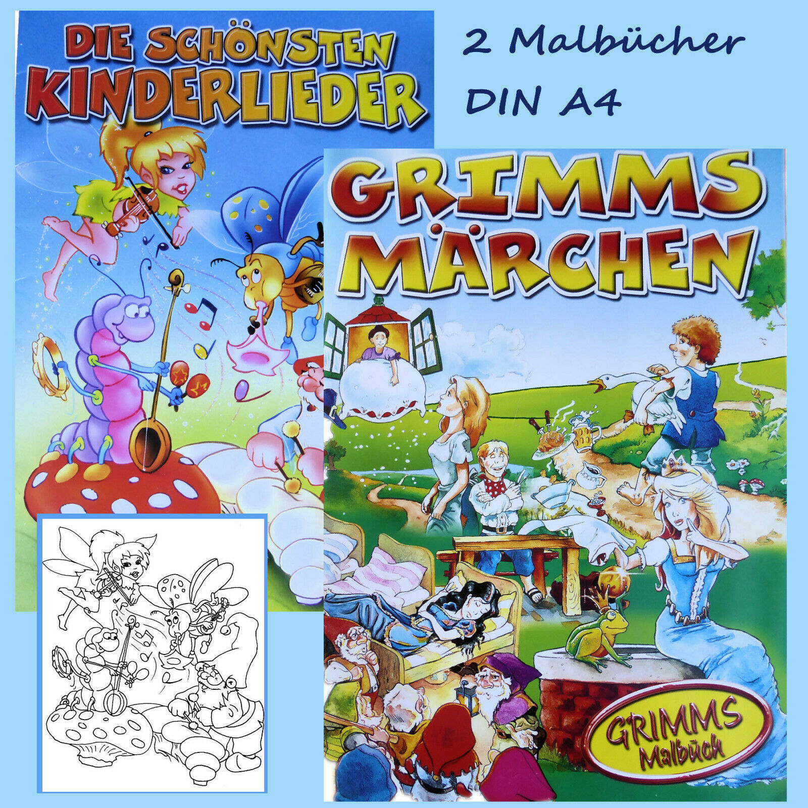 2 malbücher für kinderausmalbuchmalbuchmalvorlagen