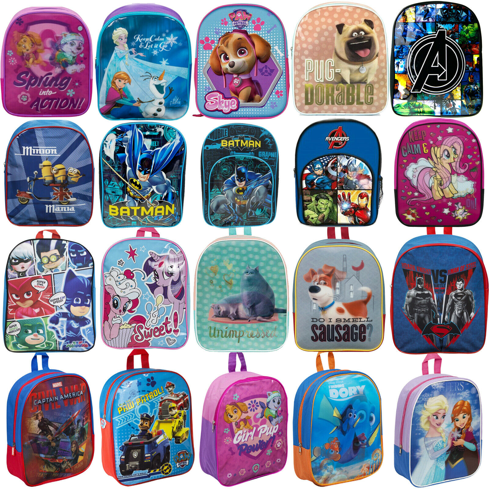 new kids childrens toddlers character backpack rucksack