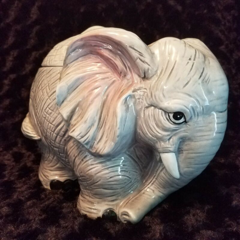 Elephant Vintage Cookie Jar