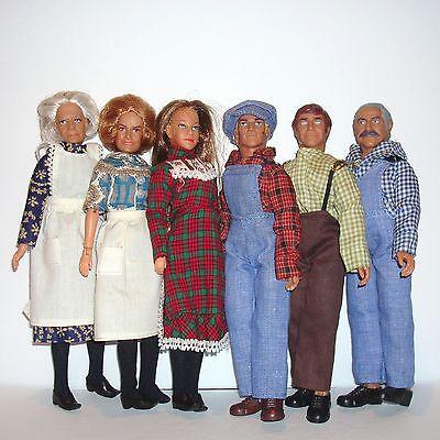 1970's Original Mego WALTON Lot Grandpa Grandma Ma Pa John Ellen HEAD CLOTHES