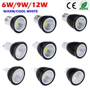 gu10 e27 mr16 led cob ampoules spotlight lamp bulb 6w 9w. Black Bedroom Furniture Sets. Home Design Ideas