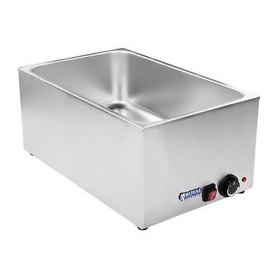 Bain Marie Wasserbad Speisenwärmer Warmhalter Wärmebehälter Warmwasserbad 1200 W