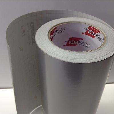 """Oracal 651 1 Roll 12"""" x 12"""" x 300"""" Silver Grey #090 Vinyl for Craft,Sign,Cutter"""