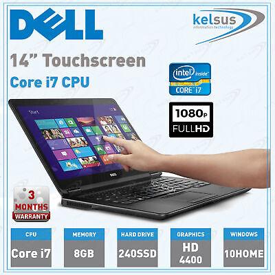Dell Latitude E7440 Laptop Core i7-4600U  8GB Ram 240SSD Webcam HDMI