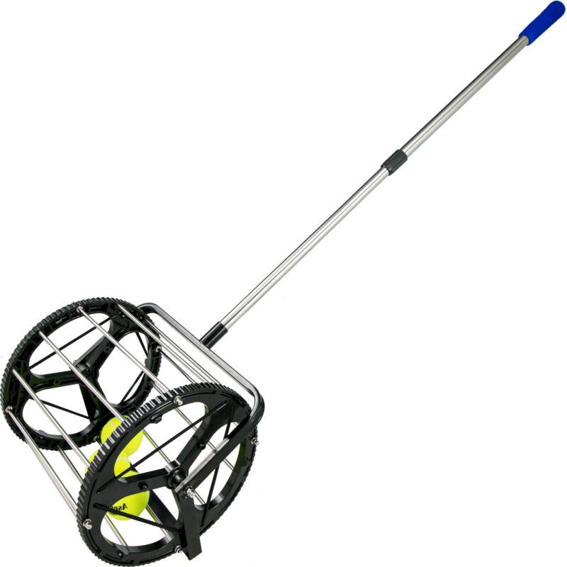 Tennis Ball Picker Ball Collector 55 Balls Cylindrical Ball Basket Tennis Hopper
